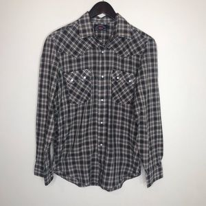 Levi's Big E Western Snap Flannel